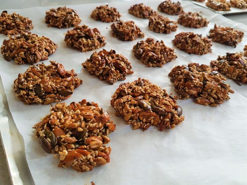 עוגיות בריאות לאחר אפייה