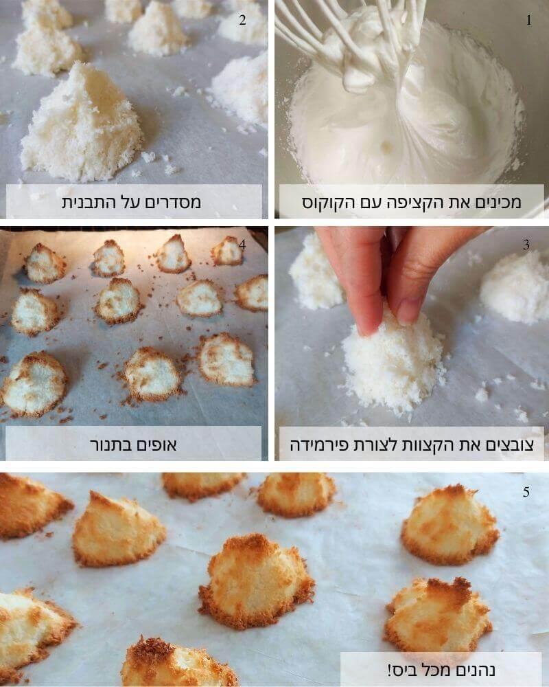 עוגיות קוקוס לפסח - שלבי הכנה